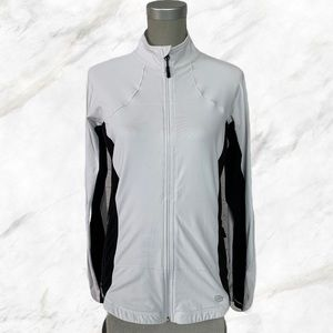 Bench | Black Accented White Zip-Up Sweater